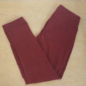 LOFT curvy skinny jeans, cranberry. Size 27/4